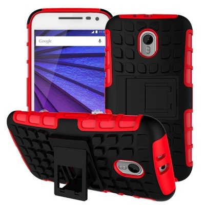 Motorola G3 Tyre Defender Cover Red
