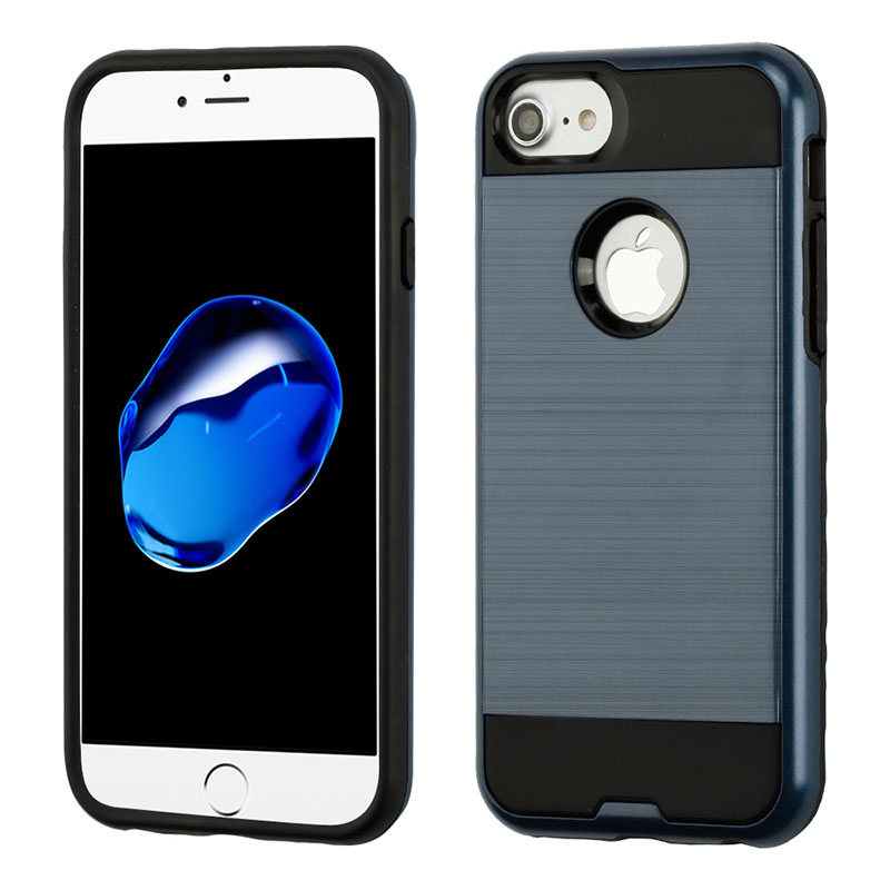 iPhone 7 / iPhone 8 Case ASMYNA Brushed Hybrid Protector- InkBlue