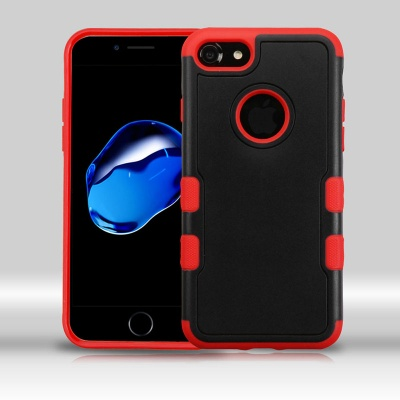 iPhone 7 / iPhone 8 Case MYBAT Natural Black/Red TUFF Merge Hybrid Protector Cover