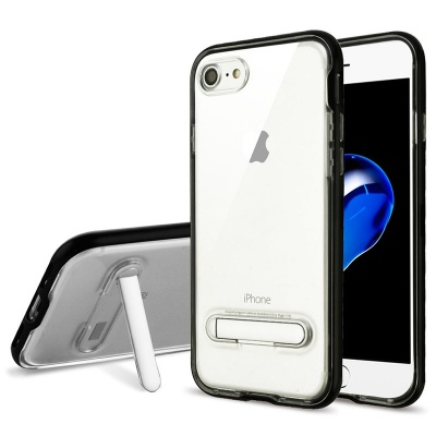 iPhone 7 / iPhone 8 Case Clear Hybrid Protector- Black