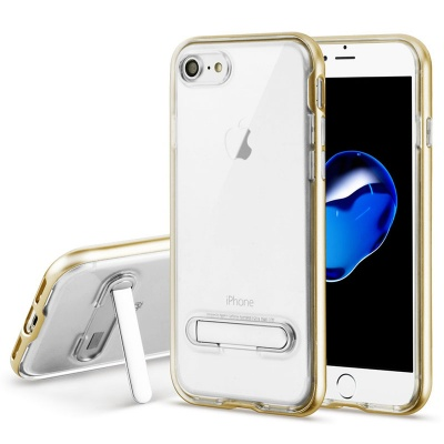 iPhone SE(2nd Gen) and iPhone 7/8 Case Clear Hybrid Protector- Gold