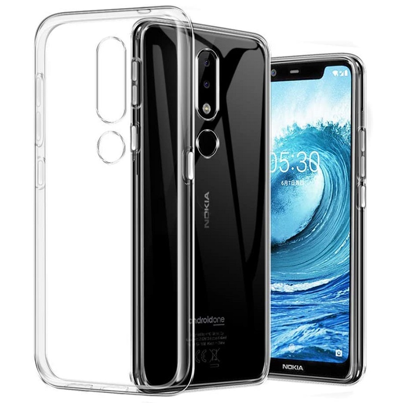 Nokia 5.1 Silicon Clear TPU Case