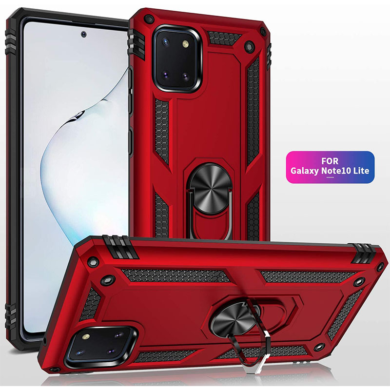 Samsung Galaxy S10 Lite Ring Armor Red