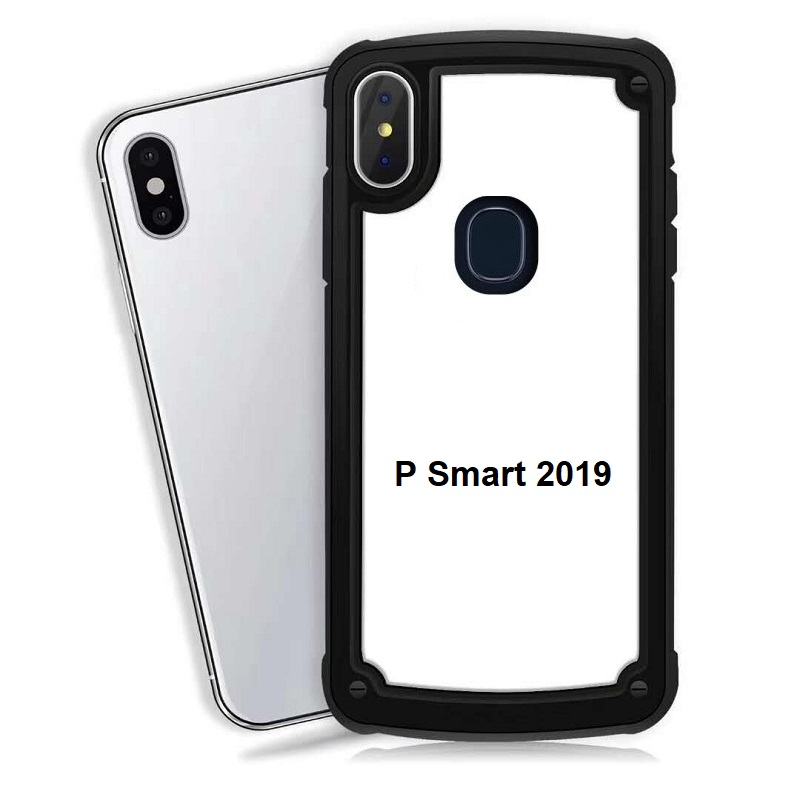 Huawei P Smart 2019 Clear Back Shockproof Cover Black