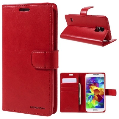 Samsung Galaxy S5 Bluemoon  Wallet Case Red