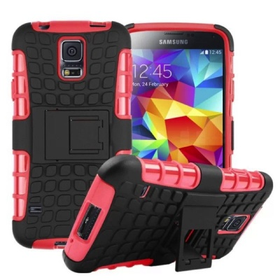 Samsung Galaxy S5 Tyre Defender Cover Red