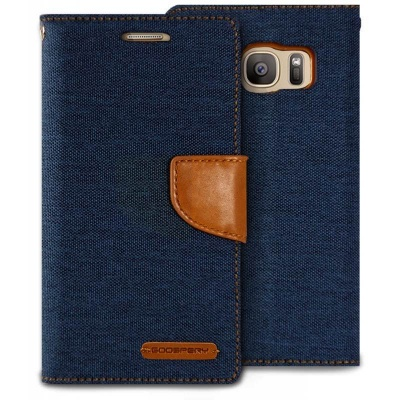 Samsung Galaxy S7 Edge Canvas Wallet Case  Denim