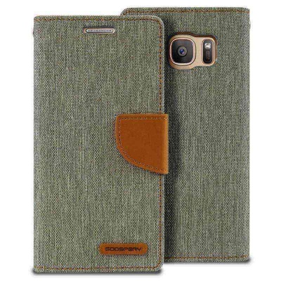 Samsung Galaxy S7 Edge Canvas Wallet Case  Grey