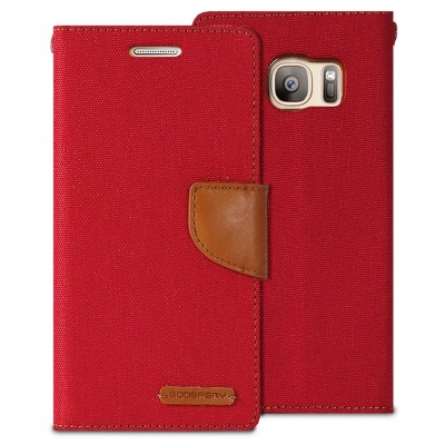 Samsung Galaxy S7 Canvas Wallet Case  Red