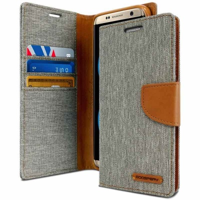 Samsung S8 Plus Canvas Wallet Case  Grey