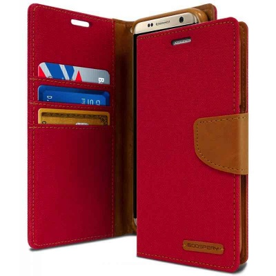 Samsung Galaxy S8 Canvas Wallet Case  Red