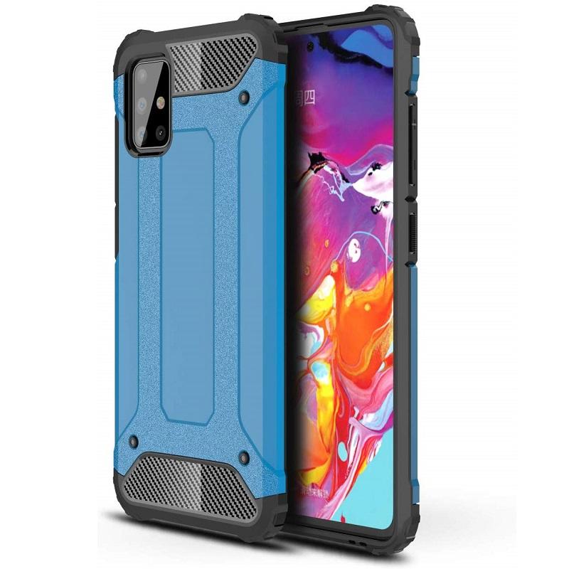 Samsung Galaxy A71 Case - Blue Luxury Armor