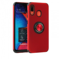 huawei p smart 2019  Magnetic Ring Holder Cover Red