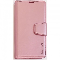 Alcatel 1S Leather Wallet Case Rose Gold