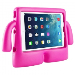 iPad Mini 1/2/3/4/5 Case for Kids Drop-proof Shockproof Cover Case with Kickstand Kids Case | Hot Pink