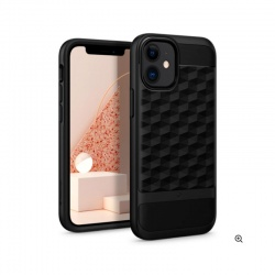iPhone 12 / 12 Pro Parallax Case Matte Black | Caseology