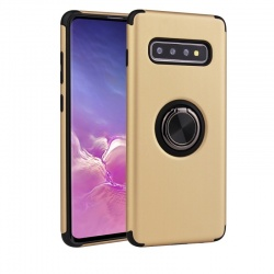Samsung Galaxy S10 Magnetic Ring Holder Cover Golden