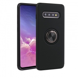 Samsung Galaxy S10 Magnetic Ring Holder Cover Black