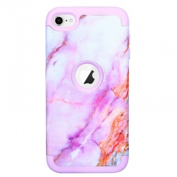iPod Touch (5th/6th Generation) Hybrid Protector Marble Pattern Cover Pink
