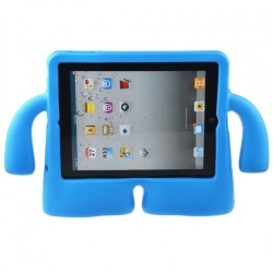iPad 10.2 Inch 2019 Case  for Kids Rubber Shock Proof Cover with Carry Handle Blue