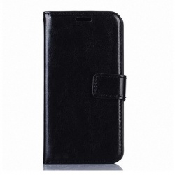Nokia Lumia 630 PU Leather Wallet Case Black