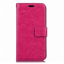 Nokia Lumia 630 PU Leather Wallet Case Pink