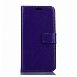 Nokia Lumia 630 PU Leather Wallet Case Purple