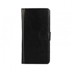 Nokia Lumia 640 PU Leather Wallet Case Black