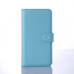Nokia Lumia 640 PU Leather Wallet Case Blue