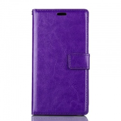 Nokia Lumia 730 PU Leather Wallet Case Purple