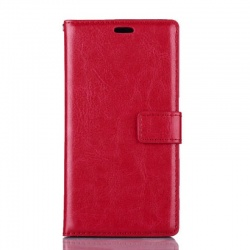 Nokia Lumia 730 PU Leather Wallet Case Red