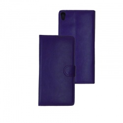 HTC 825 PU Leather Wallet Case Purple