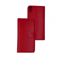HTC 825 PU Leather Wallet Case Red