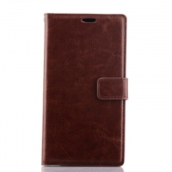 Nokia Lumia 830 PU Leather Wallet Case Brown