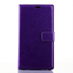 Nokia Lumia 830 PU Leather Wallet Case Purple