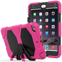 Samsung Galaxy Tab A-8.0 (2019) SM-T290 Shockproof Cover With Kickstand | Hot Pink