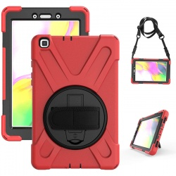 Samsung Galaxy Tab A8.0 SM T290 Case with strap holder | Red