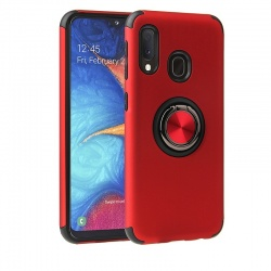 Samsung Galaxy A20e Magnetic Ring Holder Cover Red
