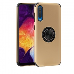 Samsung Galaxy A50 Magnetic Ring Holder Cover Gold
