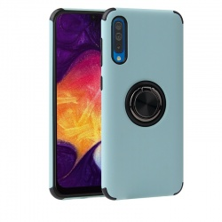 Samsung Galaxy A50 Magnetic Ring Holder Cover Cyan