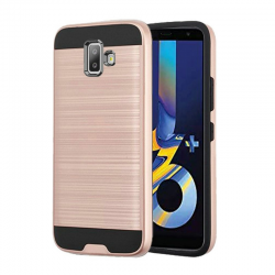 Samsung Galaxy J6 Plus  Shockproof Dual Layered Back Case Rosegold