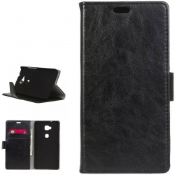 Huawei GX8/G8 PU Leather Wallet Case Black