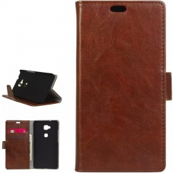 Huawei GX8/G8 PU Leather Wallet Case Brown