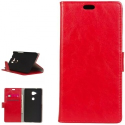 Huawei GX8/G8 PU Leather Wallet Case Red