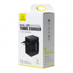 World Travel Adapter Dual USB|T2|USAMS