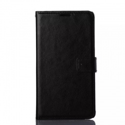 Samsung Galaxy Note 4 PU Leather Wallet Case Black
