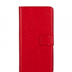 Samsung Galaxy Note 4 PU Leather Wallet Case Red