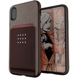 iPhone X Case Ghostek Exec 2 Series Case Brown