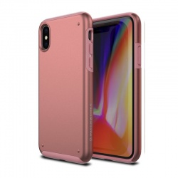 iPhone X Case Patchwork Chroma Series Case RoseGold