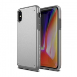 iPhone X Case Patchwork Chroma Series Case Silver